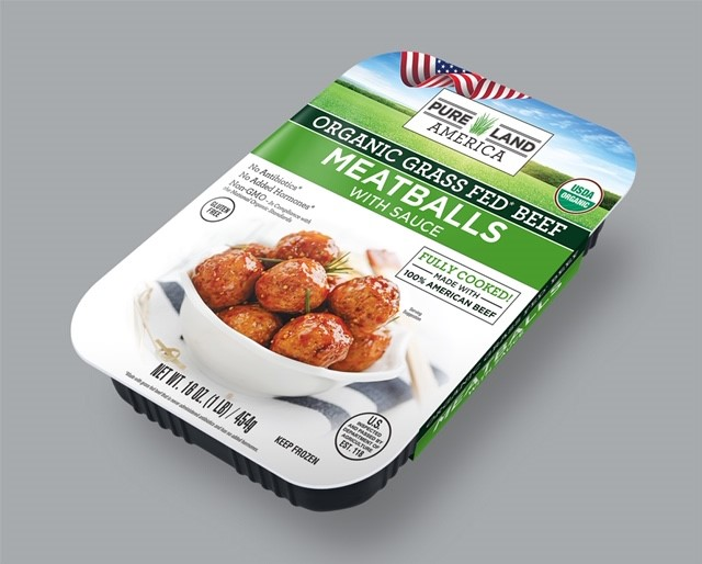 buy pureland american organic grass fed frozen meatballs with sauce