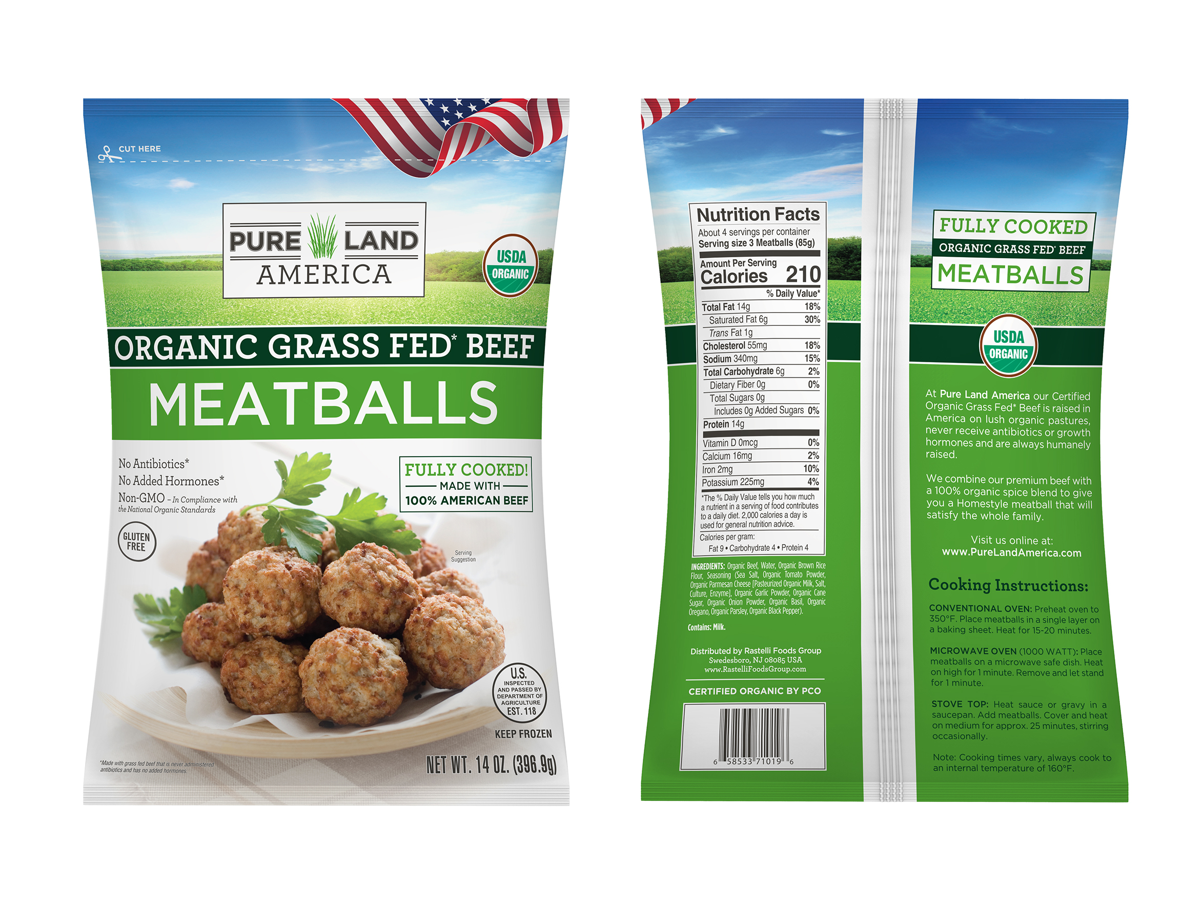 organic grass fed meatballs nutritional facts for diet